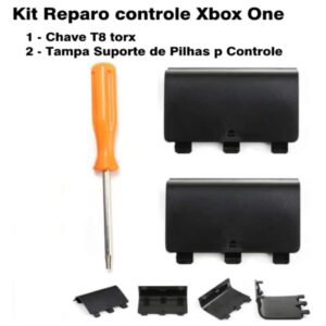 Kit 1 Chave Torx T8 + 2 Tampa De Pilhas Controle Xbox One