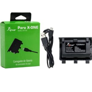 Kit Play Bateria E Cabo Carregador Controle Xbox One Charge