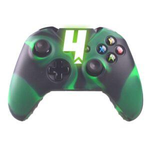 Capa Case Silicone Controle Xbox One Verde Preto