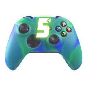 Capa Case Silicone Controle Xbox One Verde Azul