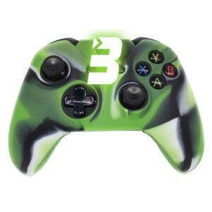 Capa Case Silicone Controle Xbox Camuflada Verde