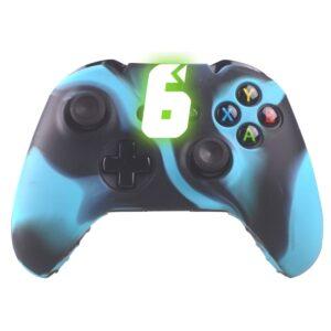Capa Case Silicone Controle Xbox One Azul Preto