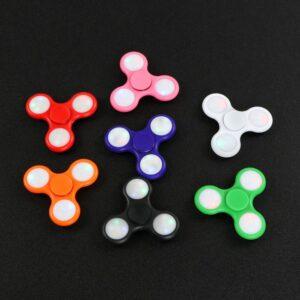 Fidget Hand Spinner Led Rolamento Abec Toy Pião/Dedo Cores