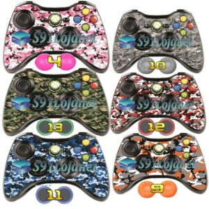 Adesivo Skin Xbox 360 Camuflado Controle Original + Par Grip