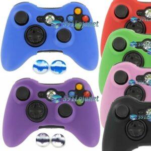 Capa Case Skin Xbox 360 Silicone Coloridos + Grip Camo