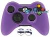 Capa Case Skin Xbox 360 Silicone Roxo + Grip Camo