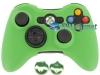 Capa Case Skin Xbox 360 Silicone Verde + Grip Camo