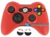 Capa Case Skin Xbox 360 Silicone Vermelho + Grip Camo