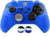 Capa Case Skin Xbox One Controle Elite Azul + Grip Bola