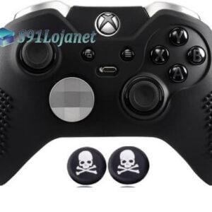 Capa Case Skin Xbox One Controle Elite Preto + Grip Skull