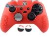 Capa Case Skin Xbox One Controle Elite Vermelho + Grip Bola