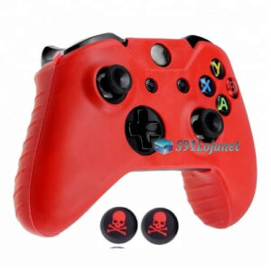 Capa Case Skin Xbox One Microsoft Vermelho + Grip Skull