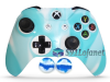 Capa Case Skin Xbox One S Premio Branco Azul + Grip Camo