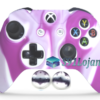 Capa Case Skin Xbox One S Camo Branco Rosa + Grip Camo