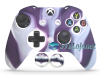 Capa Case Skin Xbox One S Premio Branco Roxo + Grip Camo
