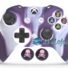 Capa Case Skin Xbox One S Camo Branco Roxo + Grip Skull
