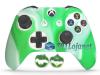 Capa Case Skin Xbox One S Premio Branco Verde + Grip Camo