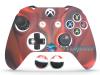 Capa Case Skin Xbox One S Premio Branco Vermelho + Grip