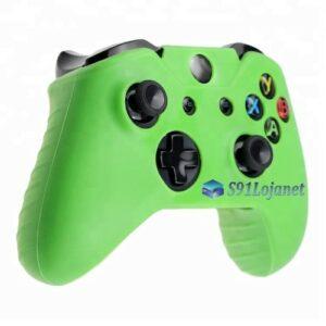 Capa Case Skin Xbox One S Microsoft Coloridas Verde