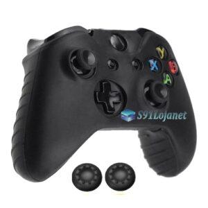 Capa Case Skin Xbox One S Microsoft Preto + Grip Cor