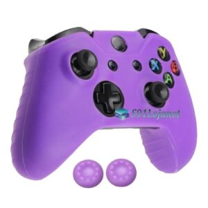 Capa Case Skin Xbox One S Microsoft Roxo + Grip Cor