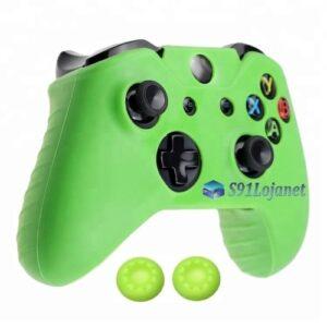Capa Case Skin Xbox One S Microsoft Verde + Grip Cor