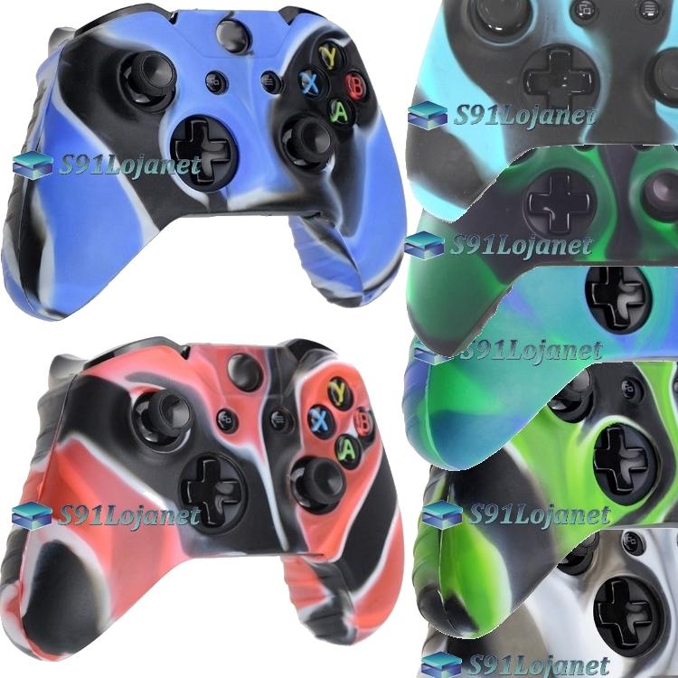 Capa Case Skin Xbox One X Microsoft Camuflado Cores