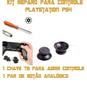 Par Botão Analógico Controle Playstation Ps4 Dual + Chave T8