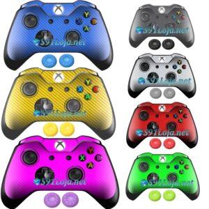 Xbox One Skin Adesivo Skin Pele Carbono Controle + Par Grip
