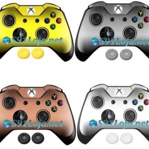 Xbox One Skin Adesivo Skin Pele Metalico Controle + Par grips