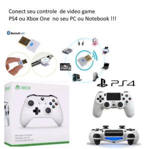 Adaptador Pc Usb Bluetooth 4.0 Controle Xbox One Ps4 Sem Fio
