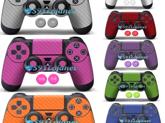 Adesivo Skin Case Capa Ps4 Controle Playstation 4 + Par Grip