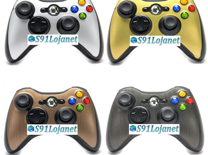 Adesivo Skin Case Capa Metal Pele Controle Original Xbox 360
