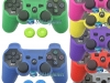 Capa Case Controle Playstation PS3 Coloridos +1 Par Grips