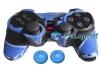 Capa Case Controle Playstation Ps2 Camo Azul + Grip Color