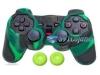 Capa Case Controle Playstation Ps2 Verde Preto + Grip Color