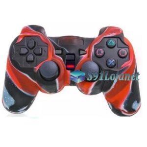 Capa Case Controle Playstation Ps2 Camuflado Vermelho