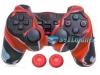 Capa Case Controle Playstation Ps2 Vermelho + Grip Color