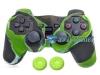 Capa Case Controle Playstation Ps2  Camo Verde + Grip Color