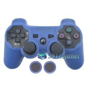 Capa Case Playstation PS3 Azul + Grip Bolinha