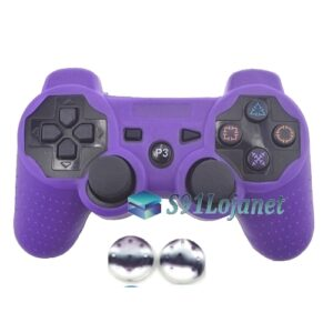Capa Case Playstation PS3 Roxo + Grip Camo