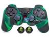 Capa Case Playstation Ps2 Camo Verde Preto + Grip Skull
