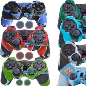 Capa Case Playstation Ps2 Camo Várias Cores + Grip Bolinha