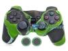 Capa Case  Playstation Ps2 Original Camo Verde + Grip Bolinha