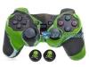 Capa Case Playstation Ps2 Original Camo Verde + Grip Skull