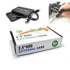 Case Hd 2,5 Sata Usb 2.0 Uso Externo Em Console Pc Notebook