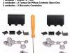 Kit 2 Borracha Condutiva + Torx T8 + 2 Tampa Pilhas Xbox One