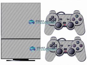 Skin Ps2 Playstation 2 Original Adesivo Vinil Carbono Branco