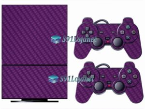 Skin Ps2 Playstation 2 Original Adesivo Vinil Carbono Roxo