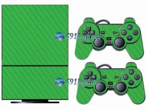 Skin Ps2 Playstation 2 Original Adesivo Vinil Carbono Verde